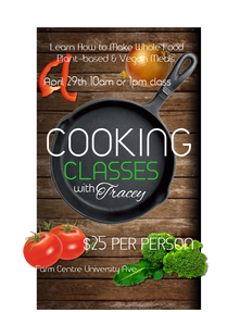 Cooking Class - Plant-based Whole Foods @ PEI Farm Centre
