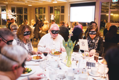 Dining without sight