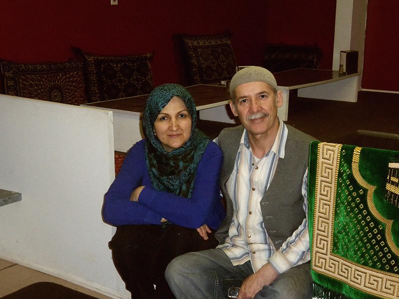 Profile picture of Sara Sadat and Akbar Sadat at their restaurant